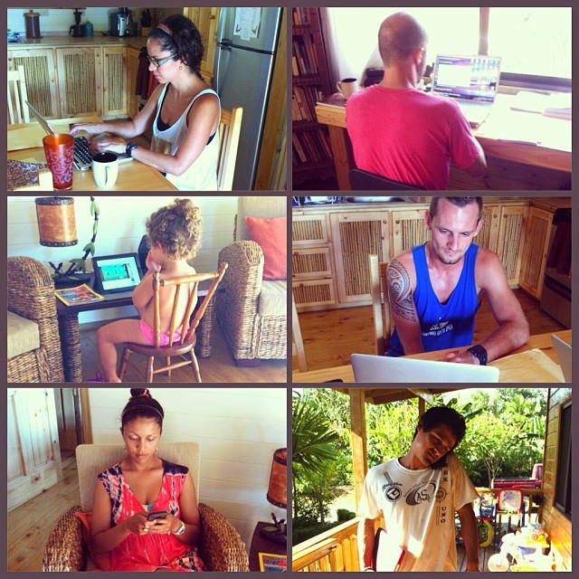 It's not all fun in the sun here at Bodhi Surf School... today we are having an idea/number crunching session at the Bodhi Headquarters #bodhisurfschool