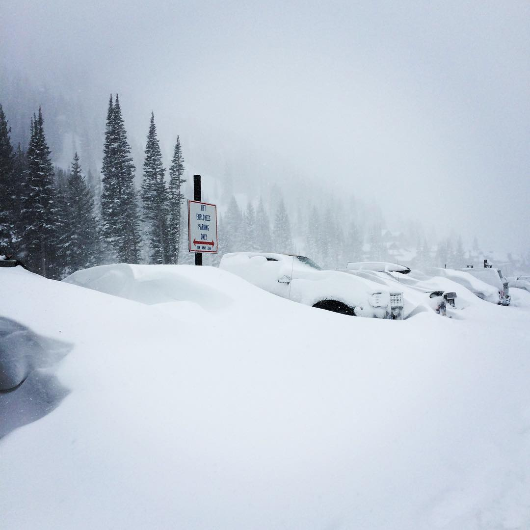 remember when it snowed 2 feet on april 15th, 2015 at @altaskiarea? we sure do.