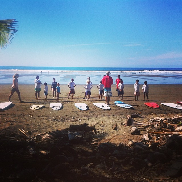 This Saturday, February 1st is Bodhi Surf School's bimonthly Service and Surf from 8-11am. We meet at the entrance of Playa Chaman for anyone who wants to join!