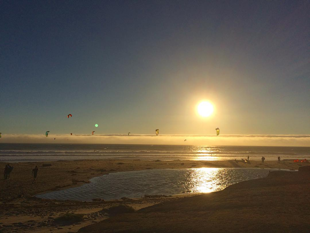 Kites at #WaddellCreek in Santa Cruz county this weekend // our team enjoyed awesome 8ft waves with strong winds Saturday afternoon