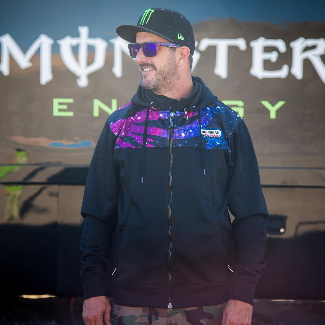 Space is cold. So are a bunch of other places this time of year. Fight the cold - AND look fresh - with this galaxy tech jacket from @TheHoonigans. Same exact jacket worn by my Hoonigan Racing tech crew! Available now at #HooniganDOTcom.