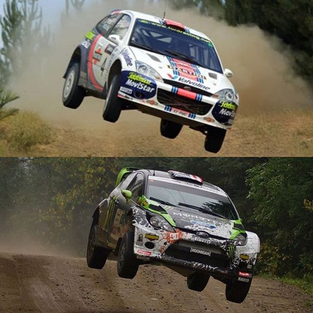 Found this in my tagged photos here on Instagram: a jump comparison between myself and my favorite rally driver of all time, Colin McRae. Colin's jump from Rally Australia up top, my jump from Rallye Défi in 2012. Colin is one of my biggest...