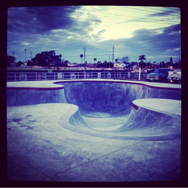 Regram @grayslide #vansskateparkhb almost open... #skatepark #huntingtonbeach