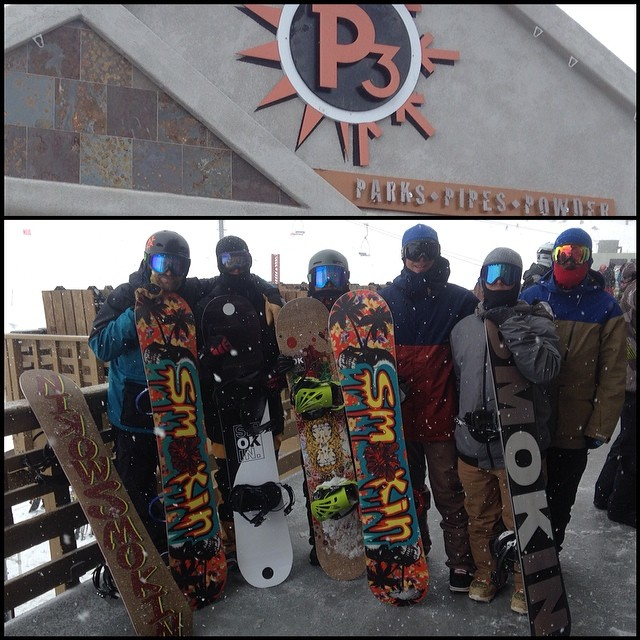 Had a great day demoing the new line with the @p3mammoth crew! Thanks for the fun session. it's snowing and mammoth is super fun mobbing with a posse! #forridersbyriders #handmadelaketahoe #smOKin