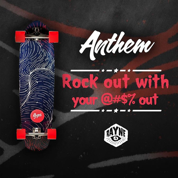 "It's a rocker/concave delight!  The #rayneanthem features the comfort of radial rocker/concave so you can rock out with your $&@"" out  Hit the link in our bio to learn more"