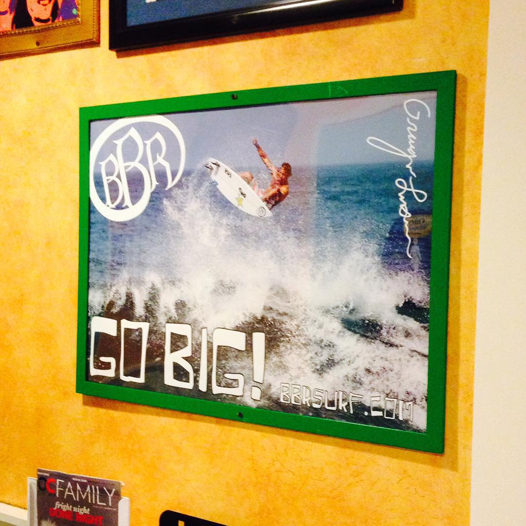So stoked. Our poster is up in the original Wahoos Fish Taco in Costa Mesa on Placentia.  Thank you so much for the support Ron Camero, Ed Lee, and Wing Lam.  #bbr #bbrsurf #buccaneerboardriders #bbrsurfwear #wahoosfishtaco #wahoos #costamesa #original...