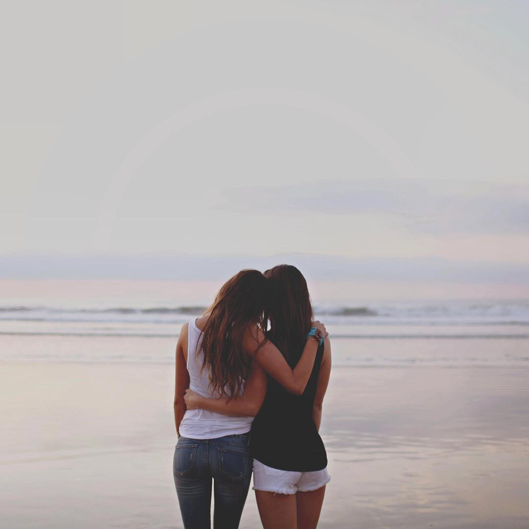 Anywhere is better when I'm with you #luvsurf #luvsurfgirl #wearthecalidream #bestfriendsforever #seekthesea