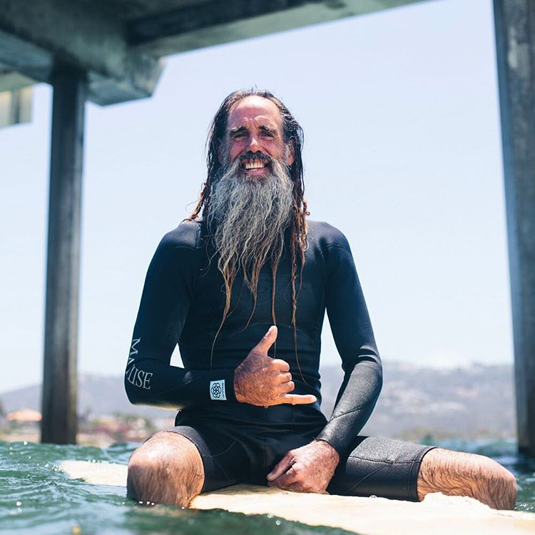 Matuse Family Member, John Haffey, in the Ichiban aka #geoprene aka the 2mm glued and blind stitched Hoplite Long Arm Spring that is currently offered at 40% savings via @thematuseblackspot, @mitchssurfshop in La Jolla, CA, @mitchsnorth in Solana...