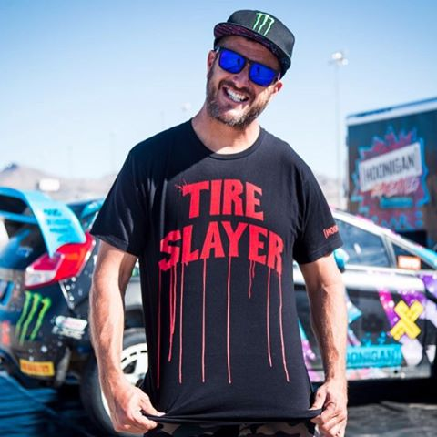 Sometimes @kblock43 wears his daily job title on his tee. The Tire Slayer lineup is on our site with the tons of other rad #HNGN gear, click the link in our bio to check em out.