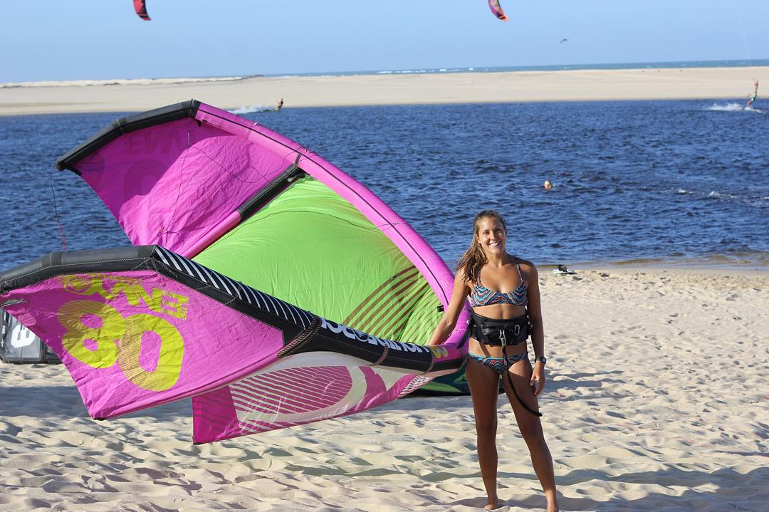 Eeee! I'm heading to Brazil today! Can't wait to put #2016 suits to the test. Lots of kiting about to go down. #luckygirl #life #kiteboarding @sensigraves