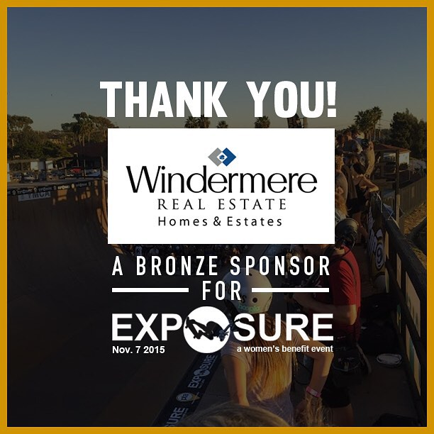Thank you to @windermerere confirmed to be a bronze sponsor for Exposure 2015!! There are plenty of partnership opportunities still available, email partnerships@exposureskate.org to find out how you can help empower girls through skateboarding!