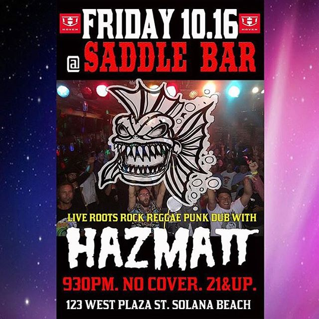 Our good friends @hazmattmusic will be playing at @saddlebar in Solana Beach tomorrow! Go grab a stiff drink and give @mattallenhi a tummy rub!  #hovenvision #hazzmatt #saddlebar