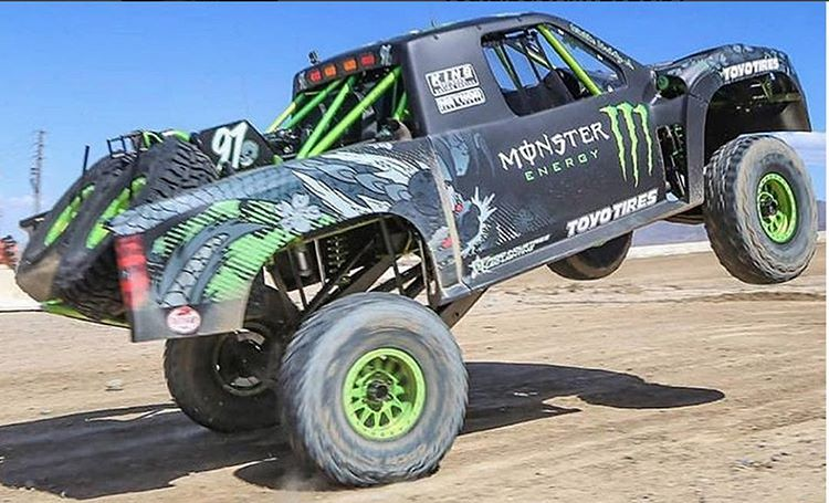Not sure if he's doing it wrong or too right. @bjbaldwin getting ready for #Monstercup on Saturday in Las Vegas. #wheelieALLthethings