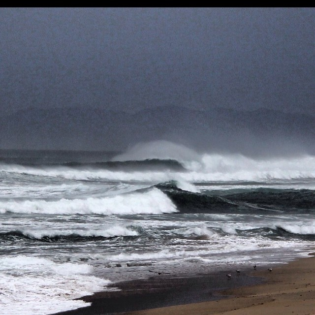 Super Stormy and Windy!  Thanks Evan House for this great shot from Guadalupe Beach, CA #windy #surf #goflow #california