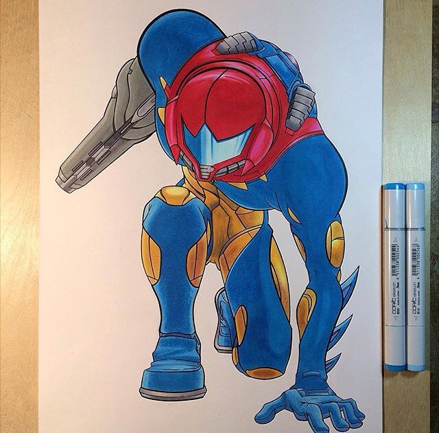 @ruffhousearts • • #art #metroid #nintendo #ruff #spratx #sketch #drawing