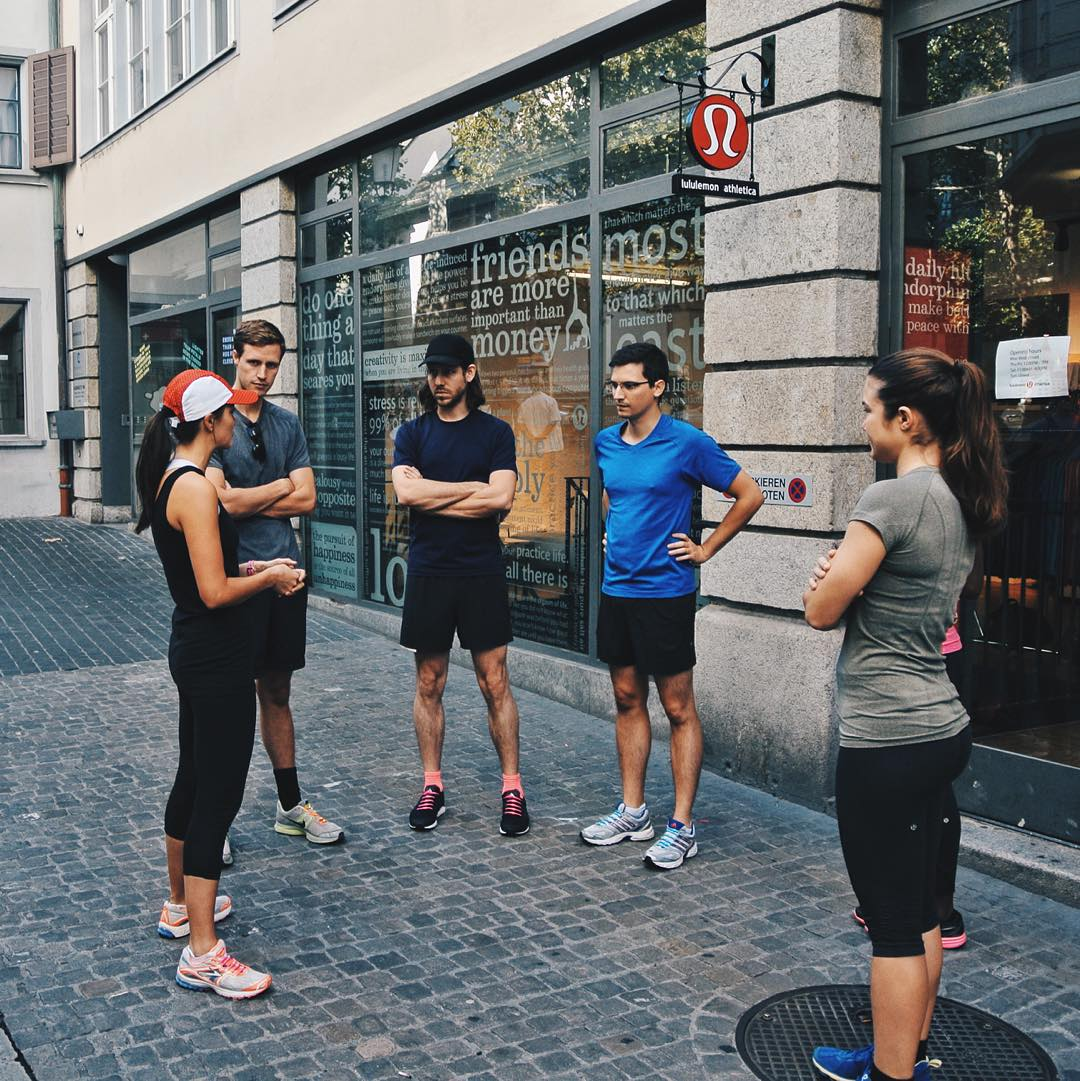 Spotted across the pond: HICKIES on the feet of @lululemonch's run team