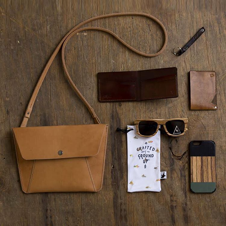 It's smells like leather in the office this month - what could be better!? We're partnering with @fullgive for the #NatureOfProof Giveaway  Winner will receive:  Fullgive Handmade Leather Envelope Purse ($149 value), Ontario Zebra Wood with a Polarized...