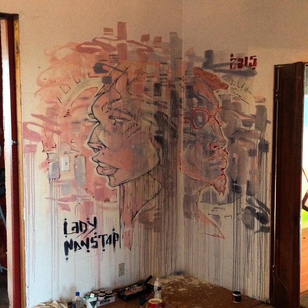 @ladynonstop • • #surpluscandy #hanksy #LA • • #art #mural #graffiti #grafite #streetart #spratx #nonstop