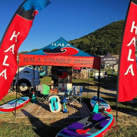 Check out the New 2016 Hala Gear paddle boards at Go Outside Festival this weekend! @roanokegofest #gooutsidefestival #gooutsidefest #halagearsup #wwsup #adventuredesigned #fallfestivities #suplife #isup #inflatablesup