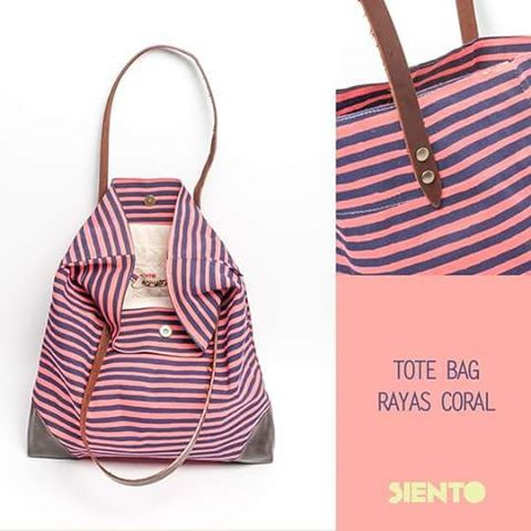 Ponele onda a tu #look  #totebag rayas coral http://shoponline.sientobags.com.ar  #outfit #outfitoftheday #verano2015 #summer #buenosaires #argentina #cute #bolsos #canvastotebag