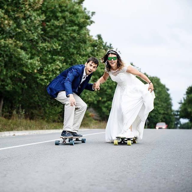 Our LGC Bulgaria ambassador @stanimira_karadocheva  got married and their wedding photos are just what we expected. Congrats guys! Polina Llieva photo.  #longboardgirlscrew #lgc #lgcbulgaria #bulgaria