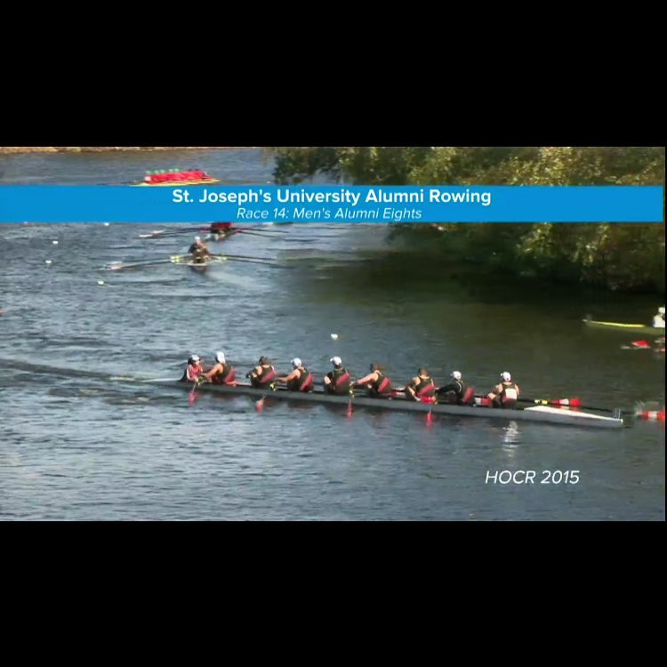 The Hawks Alumni getting after it at the @hocr1965 in Boston! #thehawkwillneverdie #sjurowing