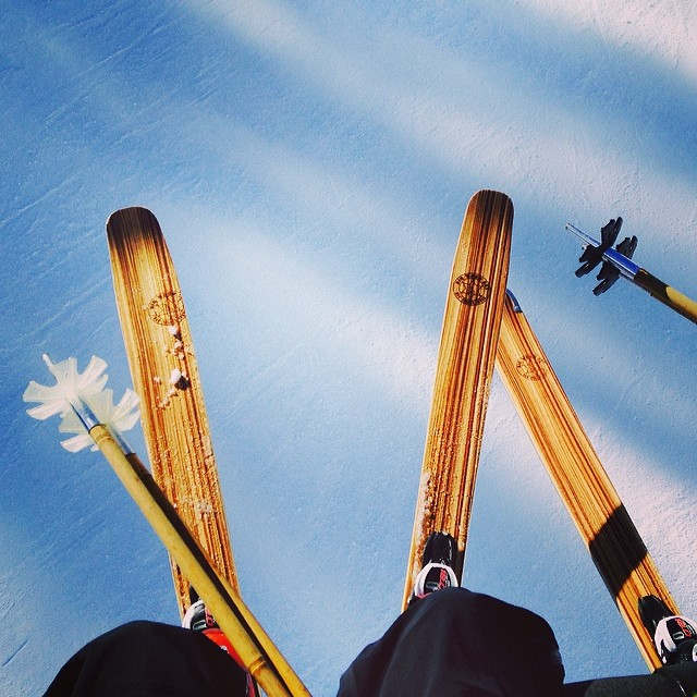 #BigWood and #QualityShafts.  Two peas in a pod.  @bigwoodskis at @sunvalley