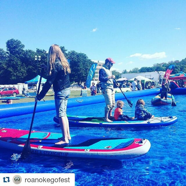 Check out @roanokegofest and cime take one of these sweet @halagearsup boards out for a spin at the @explorerecreation demo pool #roanokegofest #anthemgofest