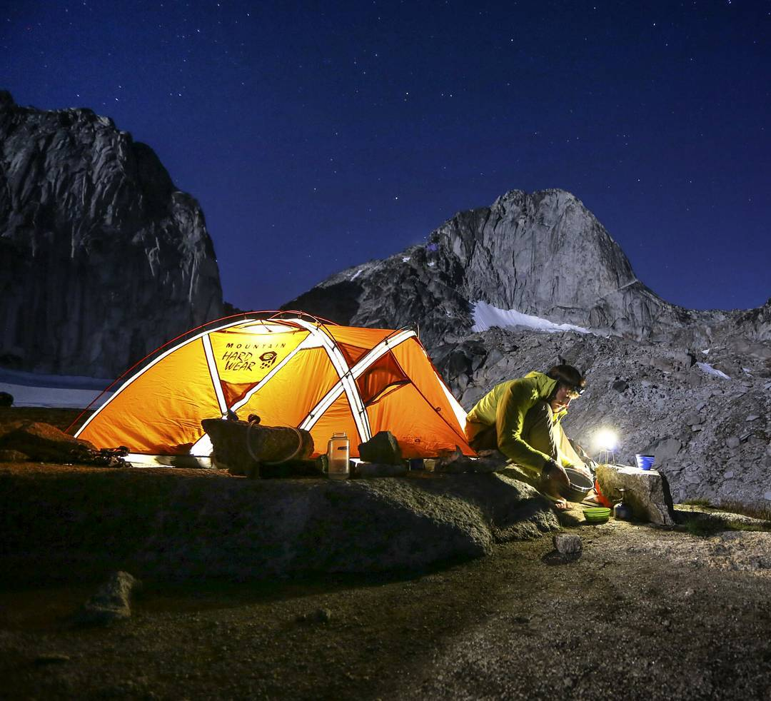 @moonmountainman enjoying a night in the Wind River Range with the Lighthouse Mini. #getoutstayout