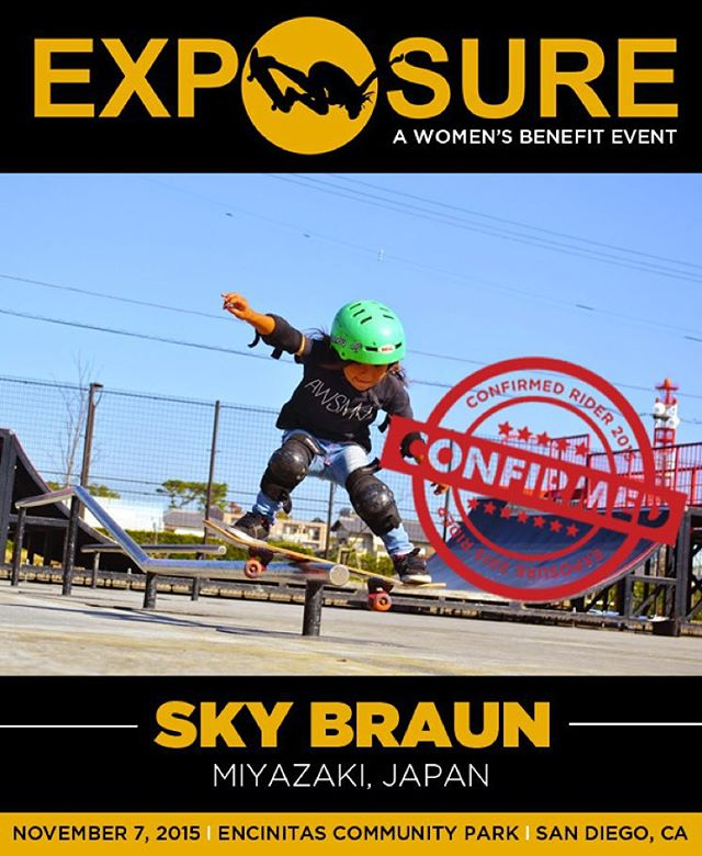 Sky Braun (@awsmkids) confirmed for EXPOSURE 2015!