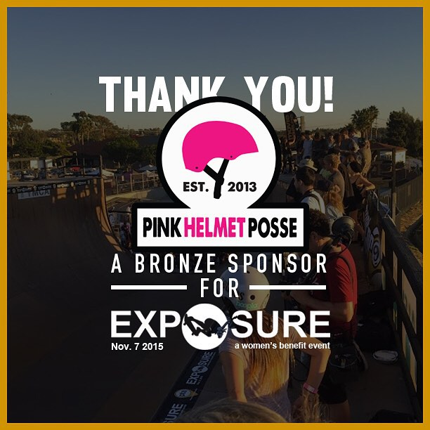 Thank you to @pinkhelmetposse confirmed to be a bronze sponsor for Exposure 2015!! There are plenty of partnership opportunities still available, email partnerships@exposureskate.org to find out how you can help empower girls through skateboarding!