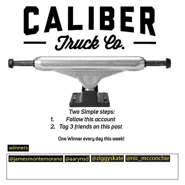Make sure to follow @caliberskate to win some #caliberstandards. Follow and comment on their page only!