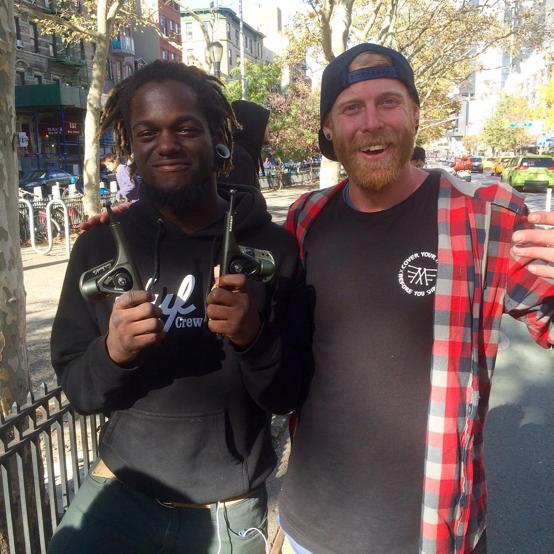 Today at the #BroadwayBomb, Brooklyn loc' Michael Simmons aka @lunchlord found @_ricker_ amongst the crowd, asked if he was #paristruckco owner @joeypulsifer and won himself a set of Savants! Sometimes it's just as easy as that! #paristrucks