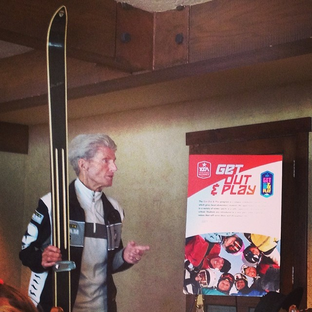 Hanging with the legend Stein Eriksen.  He won gold on those skis made by his own family! #plantyoursoul