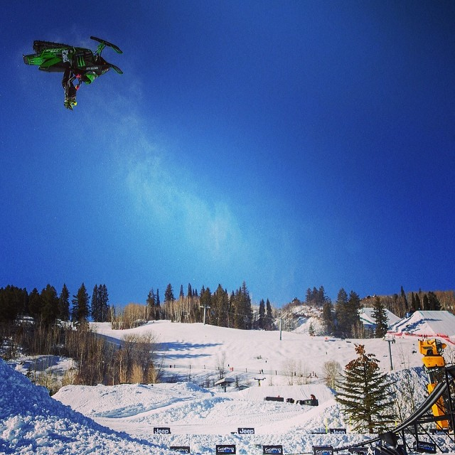 Bottoms up. #XGames #tbt