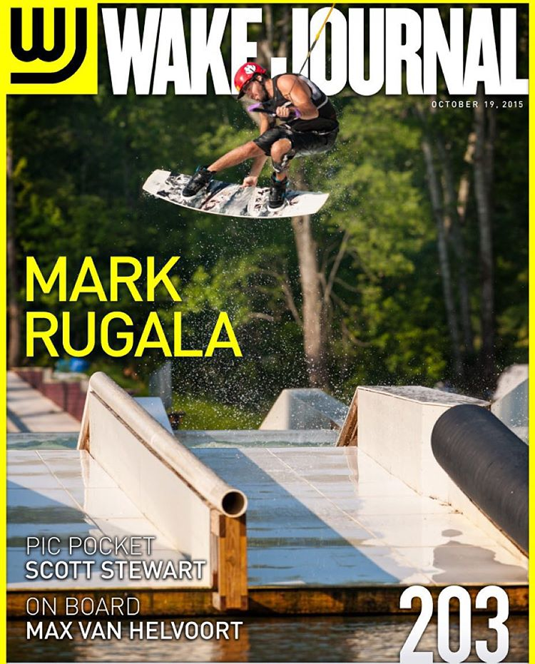 Cover boy @markrugala on this weeks @wakejournal #dreamy #wakeboarding