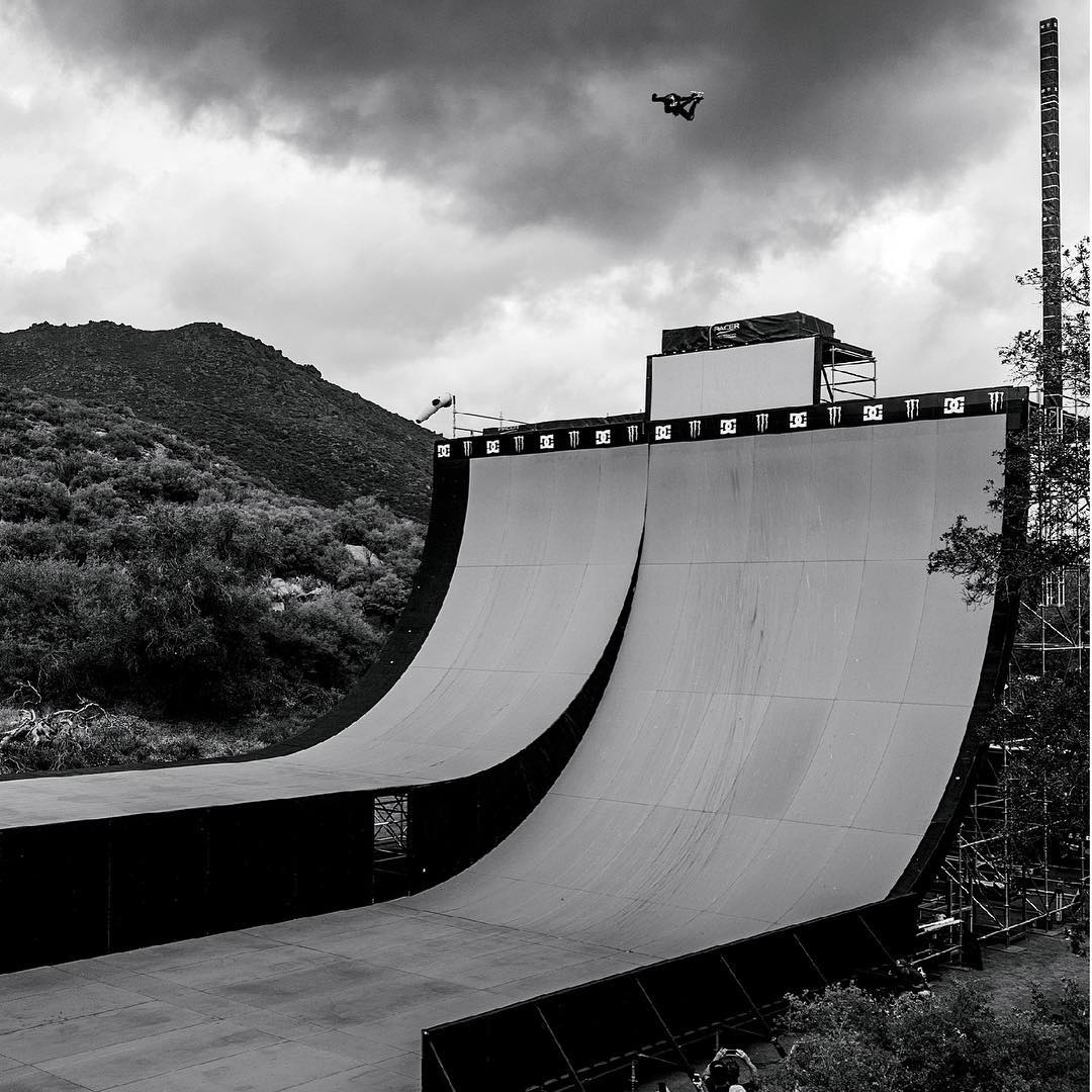 #XGames legend @DannyWay set a new world record for the highest skateboard air off a quarterpipe by boosting 25 feet, 6 inches!  Our behind-the-scenes look at his world record leap will air this Sun., Oct. 25 on ABC! (