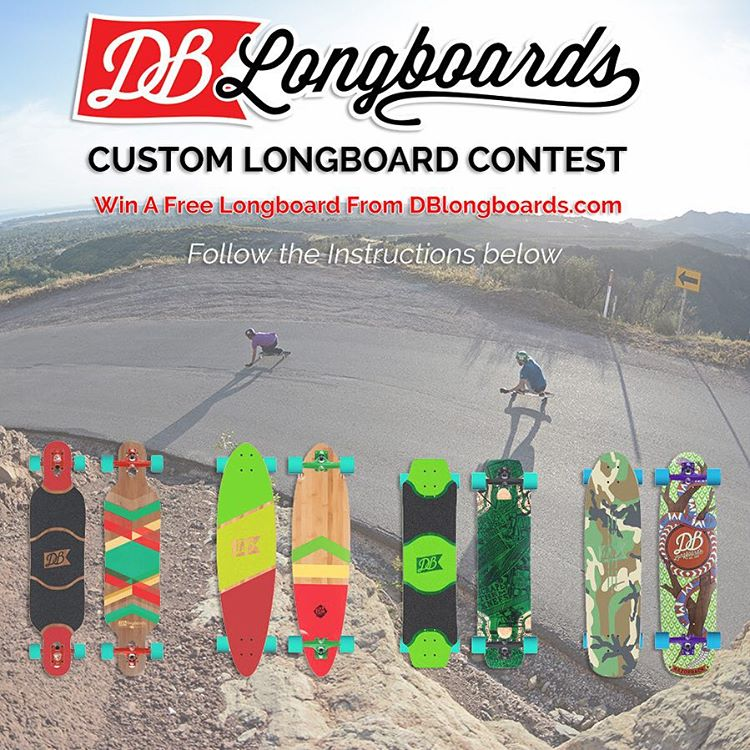 Make sure to enter our Instagram custom longboard contest for a chance to win your very own custom DB Longboard.  Here's what you need to do to enter for a chance to win!  Step 1. Build your custom longboard by going to DBlongboards.com/build  Step...