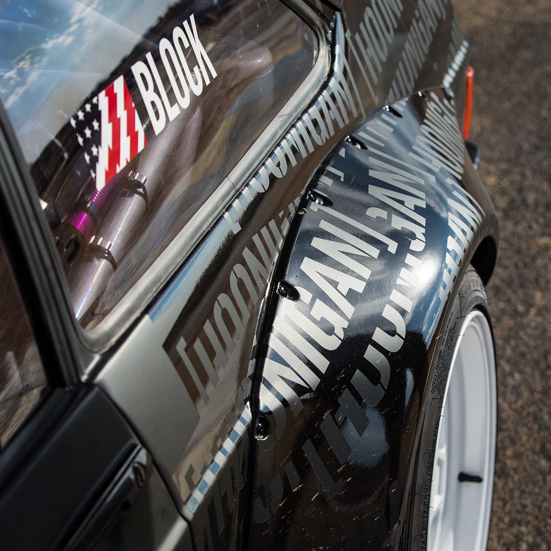 Some exciting news is coming tomorrow, in the form of a new project car that we've had slowly in the works for quite a while. All I can tell you right now is that it's fun. VERY fun. I mean, just look at that fender flare! Check out The Hoonigans'...
