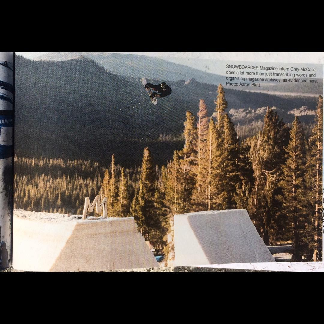 @greydinsgram at #theLaunch in @snowboardermag - congrats on your shot Grey.