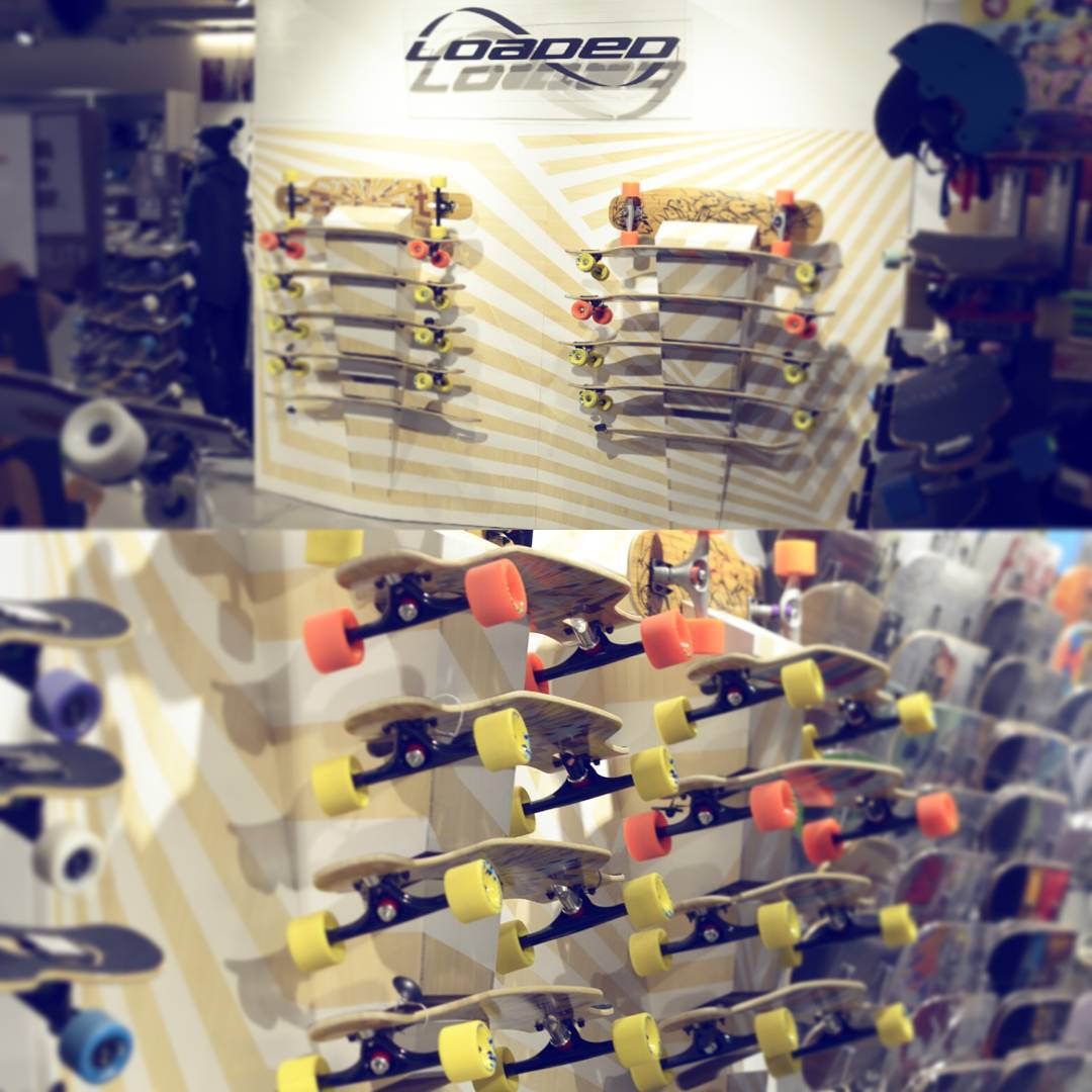 Had to share this amazing looking #LoadedBoards display at @titusberlin designed by our very own @dclee!  Wouldn't it be rad to have something like this in your room? #WinterProject!