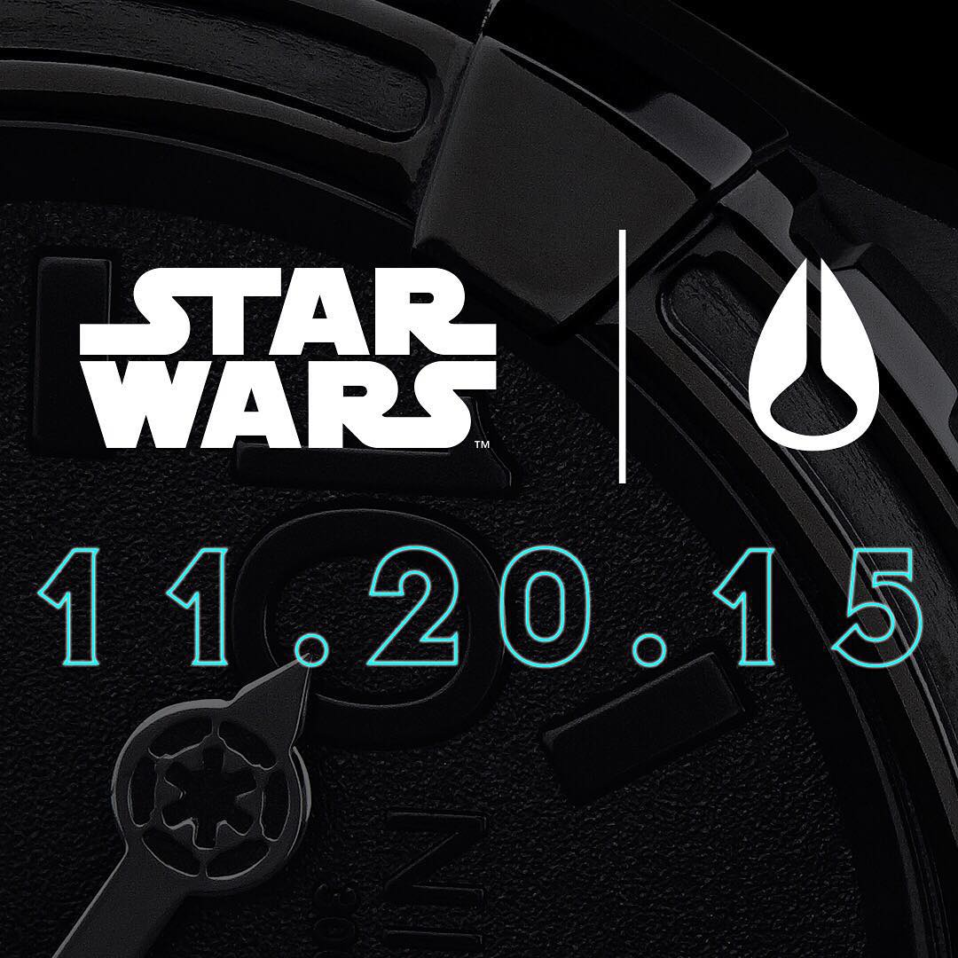 Coming soon: Part 2 of the @StarWars | #Nixon Darkside collection, available 11.20.15.  Stay tuned for more details... #NixonNow #StarWars #DarthVader #TheForceAwakens