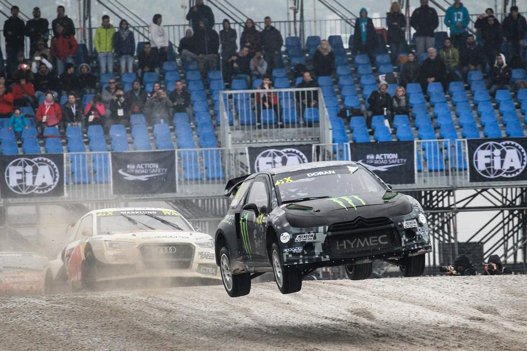 Stayed fully committed too airing it out in the beautiful Italian wet weather this weekend for World RX of Italy