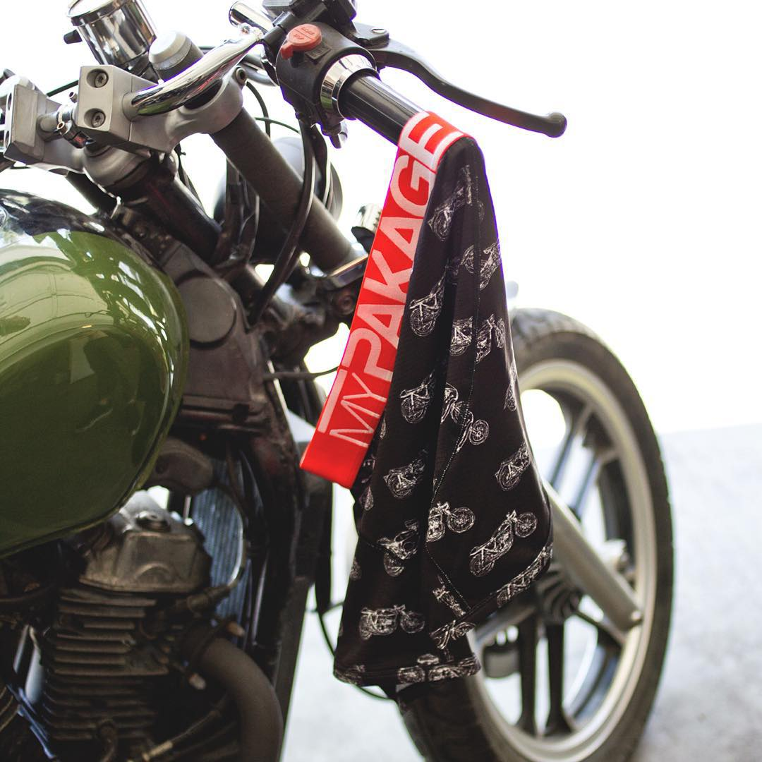 Keep it tight. Ride like the wind. #mypakage #motomonday
