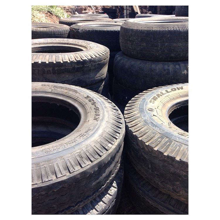 Tires upon tires upon tires. Intercepted before people could scoop them up & throw them in fires, ready to get made into your Indos.
