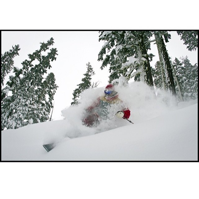 Hey @dizzleberry, we care that you tele. Dropping into the pow before the others.