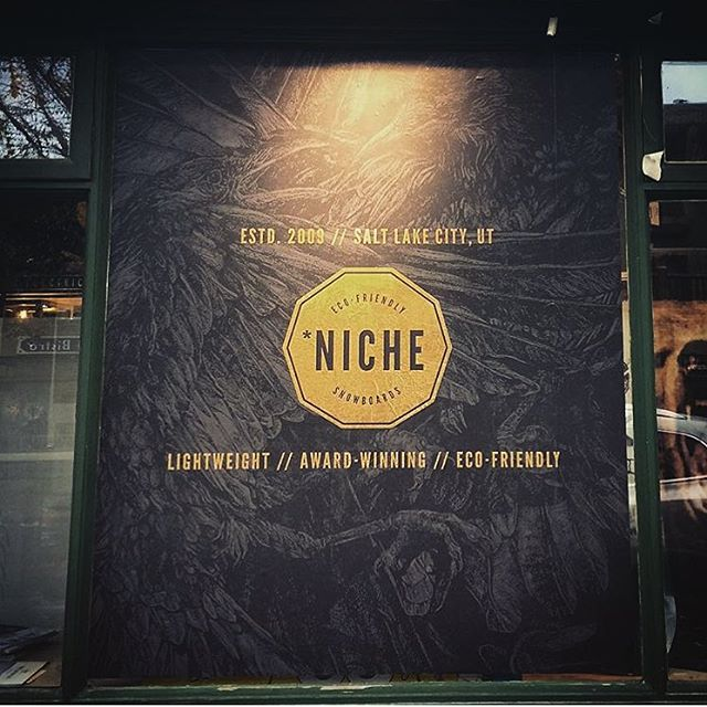 Banff folk: have you guys checked out the killer window display at @rudeboysgirlsshop yet?! It looks epic and they've got 15/16 #nichesnowboards in stock there waiting for you! #findyourniche