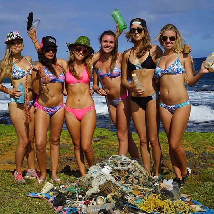 We can turn those old fishing nets into beautiful brand new bikinis with your help! Follow @alisonsadventures and shop Odinasurf.com for ♻️