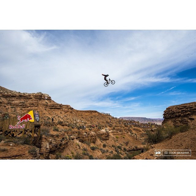 @antoinebizet Is headed into surgery today for the broken arm he sustained trying to land the first ever double back flip at #Rampage. Head over to his page and send him some love!  #Repost @antoinebizet | Little no hander from Rampage I found on...