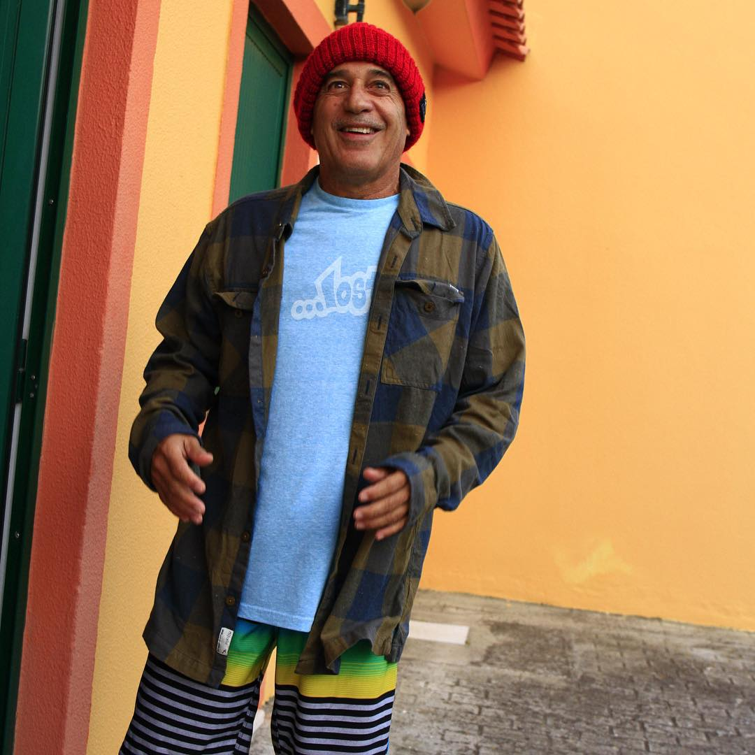 "#MichaelHo pushing product in Portugal. This color coordinated ensemble is punctuated by the ...Lost ""Skitchy"" flannel for Fall '15. In stores now."